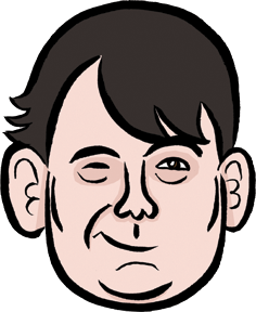 Graham Linehan caricature