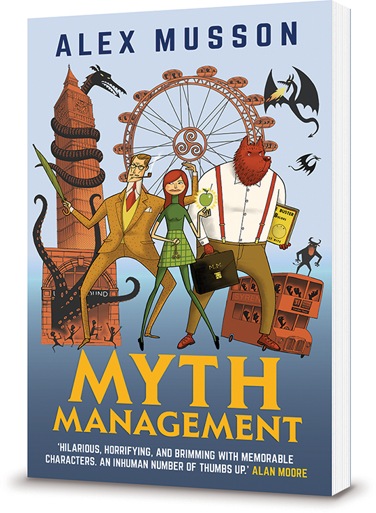Myth Management: a Young Adult Urban Fantasy novel by Alex Musson