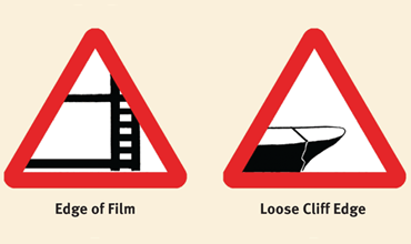 Cartoon road signs